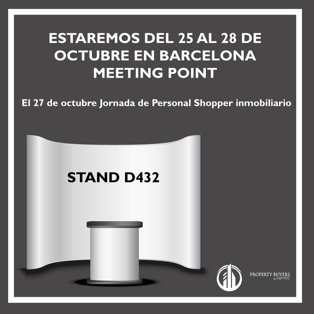 Estaremos en el Meeting Point de Barcelona del 25 al 28 de octubre